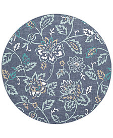 "Surya Alfresco ALF-9673 Charcoal 5'3"" Round Area Rug"
