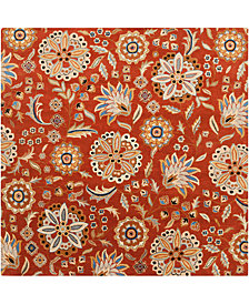 "Surya Athena ATH-5126 Burnt Orange 9'9"" Square Area Rug"