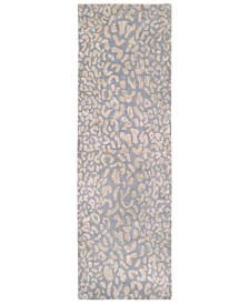Surya Athena ATH-5001 Medium Gray 3' x 12' Runner Area Rug