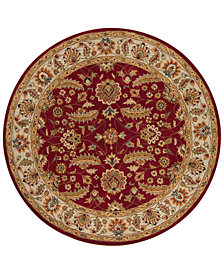 Surya Caesar CAE-1022 Dark Red 4' Round Area Rug