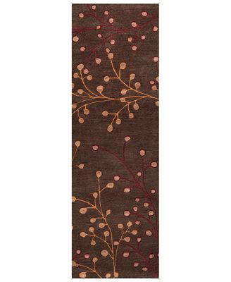 Athena Ath 5052 Dark Brown 3 X 12 Runner Area Rug