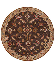Surya Caesar CAE-1083 Dark Brown 4' Round Area Rug