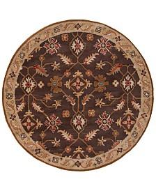Surya Caesar CAE-1083 Dark Brown 8' Round Area Rug