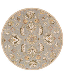 Surya Caesar CAE-1140 Medium Gray 6' Round Area Rug