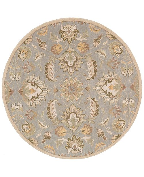 "Surya CLOSEOUT!  Caesar CAE-1140 Medium Gray 9'9"" Round Area Rug"