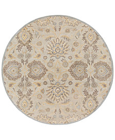 Surya Caesar CAE-1192 Light Gray 6' Round Area Rug