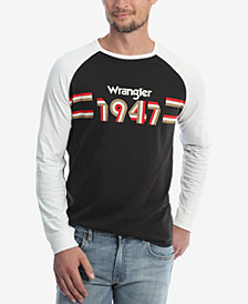 Wrangler Men's Long Sleeve Raglan T-Shirt