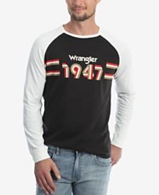 Wrangler Men's Long Sleeve Raglan T-Shirt