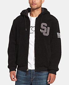 Sean John Men's Fleece-Lined Hooded Bomber Jacket