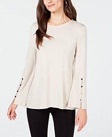 Alfani Hardware-Sleeve Top, Created for Macy's