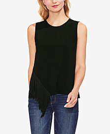 Vince Camuto Asymmetrical-Fringe Top