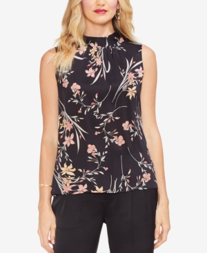 Vince Camuto Blouses FLORAL SOIREE RUCHED TOP