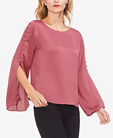 Vince Camuto Buttoned Split-Sleeve Top