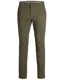 Jack & Jones Men's Classic Olive Chino Pants