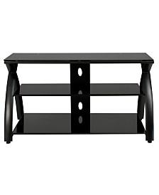 Clickhere2shop Futura TV Stand Glass - Black/Black