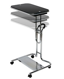 Offex Laptop Cart With Mouse Chrome - Clear