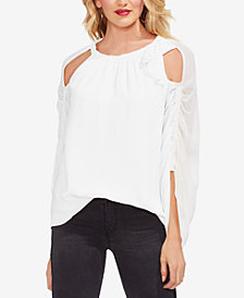 Vince Camuto Gathered Sleeve Bow Neck Top