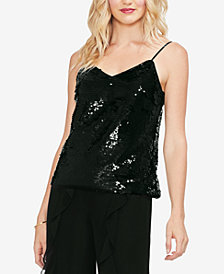 Vince Camuto Fish-Scale Sequin Camisole