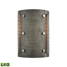 Halstead 1 Wall Sconce Ash Gray/Dark Gray Wood