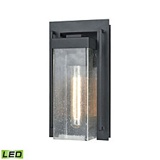 Overton 1 Outdoor Sconce Matte Black