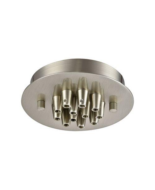ELK Lighting Pendant Options 12 Light Small Round Canopy in Satin Nickel
