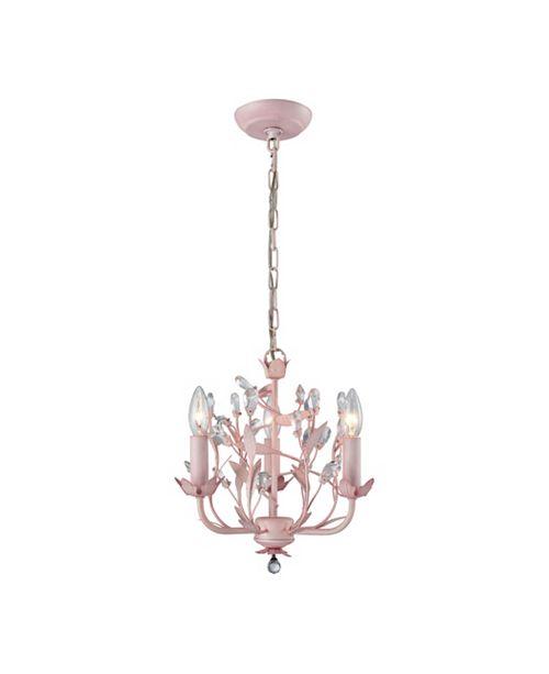 ELK Lighting Circeo 3 Light Chandelier in Light Pink