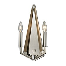 Madera Collection 2 light sconce in Polished Nickel