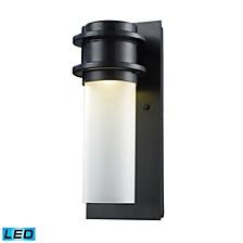 Freeport 1-Light Outdoor LED WB in Matte Black