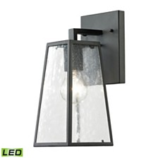 Meditterano Collection 1 light outdoor sconce in Textured Matte Black