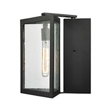 Inverse 1 Light Outdoor Wall Sconce in Matte Black