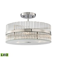 Nescott 3 Light Semi Flush Chandelier in Polished Chrome