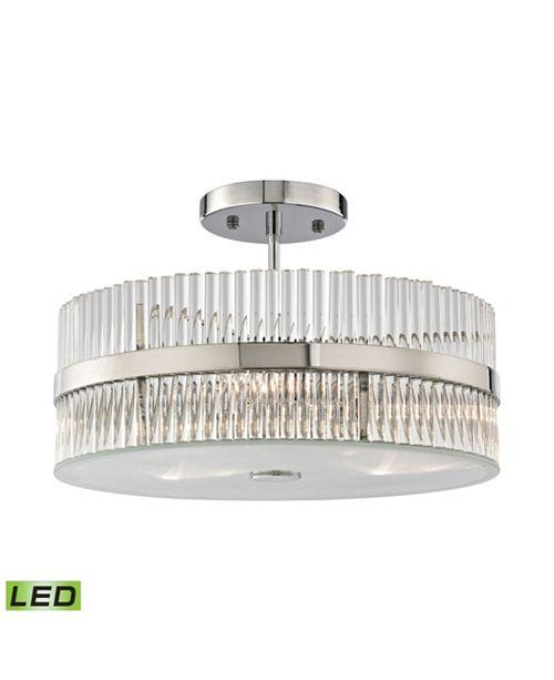 ELK Lighting Nescott 3 Light Semi Flush Chandelier in Polished Chrome