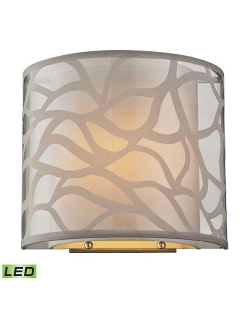 ELK Lighting Autumn Breeze 1 Light Wall Sconce in Brushed Nickel