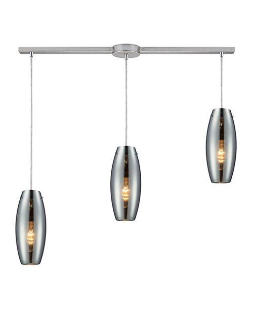 ELK Lighting Menlow park 3- Light Pendant in Polished Chrome