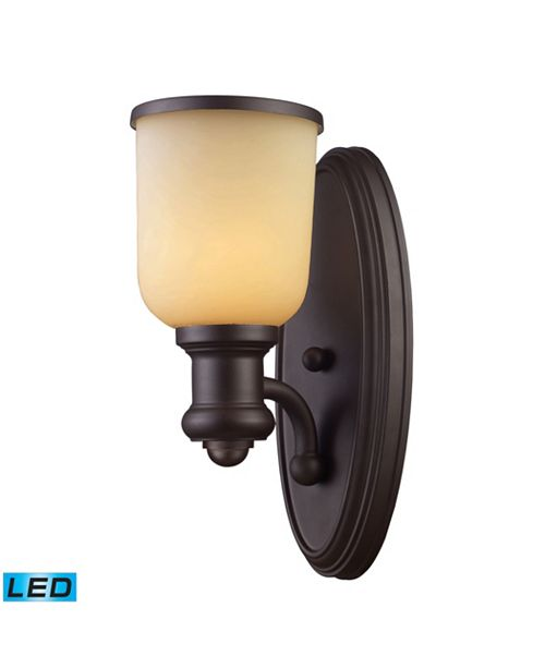 ELK Lighting Brooksdale 1-Light Sconce in Oiled Bronze - LED Offering Up To 800 Lumens (60 Watt Equivalent) With