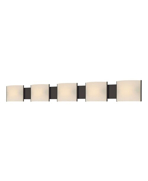 ELK Lighting Pannelli Five Lamp Vanity with White Opal Glass and ORB Finish
