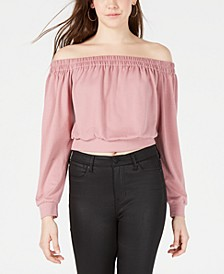 Juniors' Off-The-Shoulder Sweatshirt, Created for Macy's