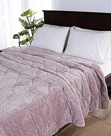 Blanket & Home Co.® Large Braid VelvetLoft® Full/Queen Comforter