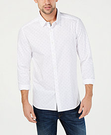 Kenneth Cole New York Men's Flocked Micro-Print Shirt