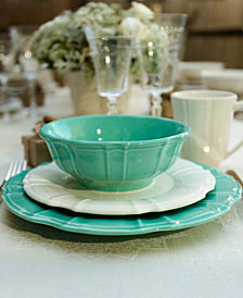EuroCeramica Chloe Turquoise Dinnerware Collection