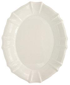EuroCeramica Chloe White Oval Platter