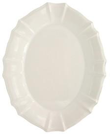 Euro Ceramica Chloe White Oval Platter