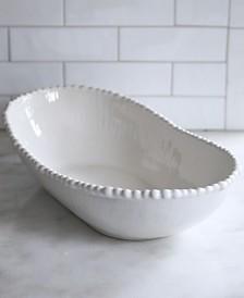 Euro Ceramica Sarar White Oval Server