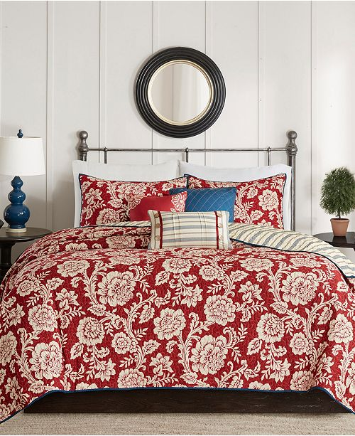 Madison Park Lucy 6-Pc. Full/Queen Cotton Twill Reversible Coverlet Set