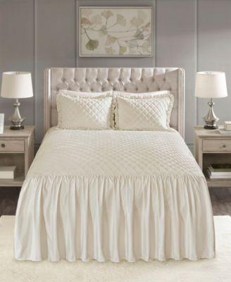 Roxanne 3-Pc. Queen Faux Velvet Bedspread Set