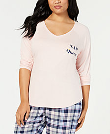 Jenni by Jennifer Moore Plus Size Pajama Top, Created for Macy's