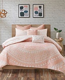 CLOSEOUT! Larisa Cotton 7-Pc. Full/Queen Duvet Cover Set