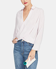 RACHEL Rachel Roy Surplice-Neck Top, Created for Macy's
