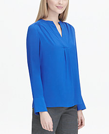 Calvin Klein Split-Neck Top