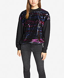 Sanctuary Last Dance Sequinned-Front Sweatshirt